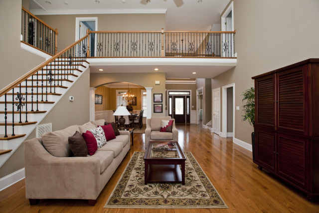 Two Story House Inside Of Sold Vacant Staging In Waxhaw Centerpiece Home Staging