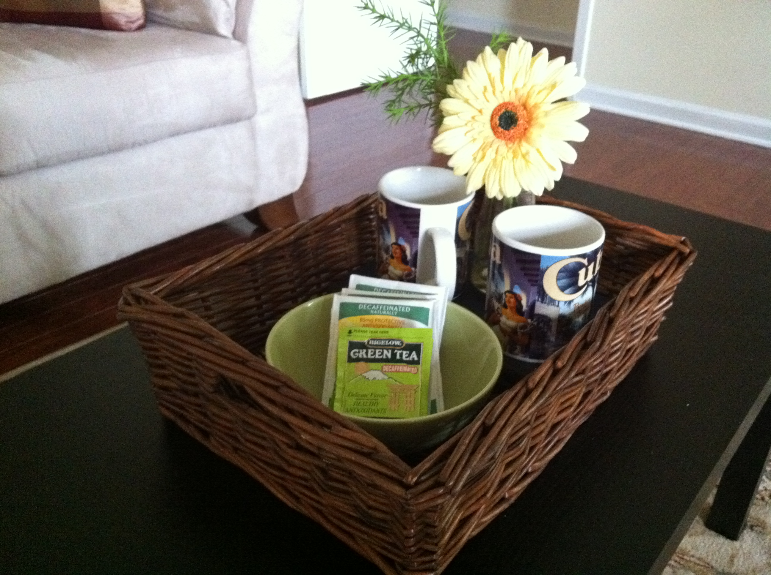Staging decorating with serving trays centerpiece home