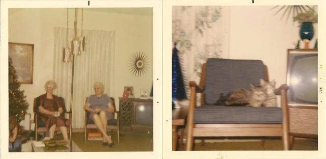 My great-grandmothers sitting in the chairs back in the 1960's