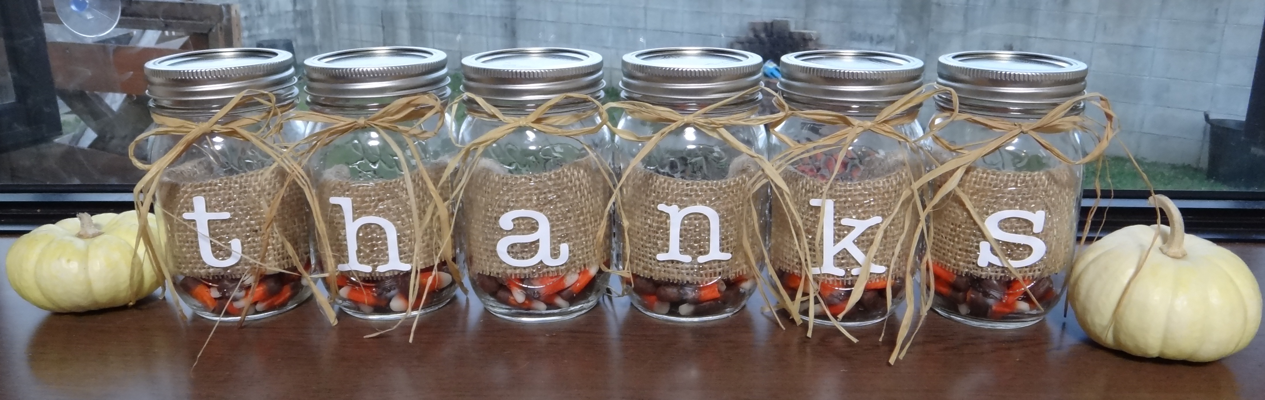fall decorating with mason jars centerpiece home staging