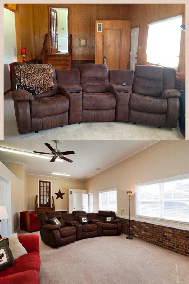 Before & after paint paneling