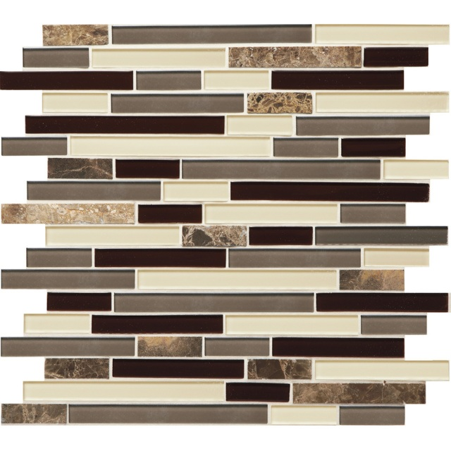 American Olean Chateau Emperador Mixed Material Tile