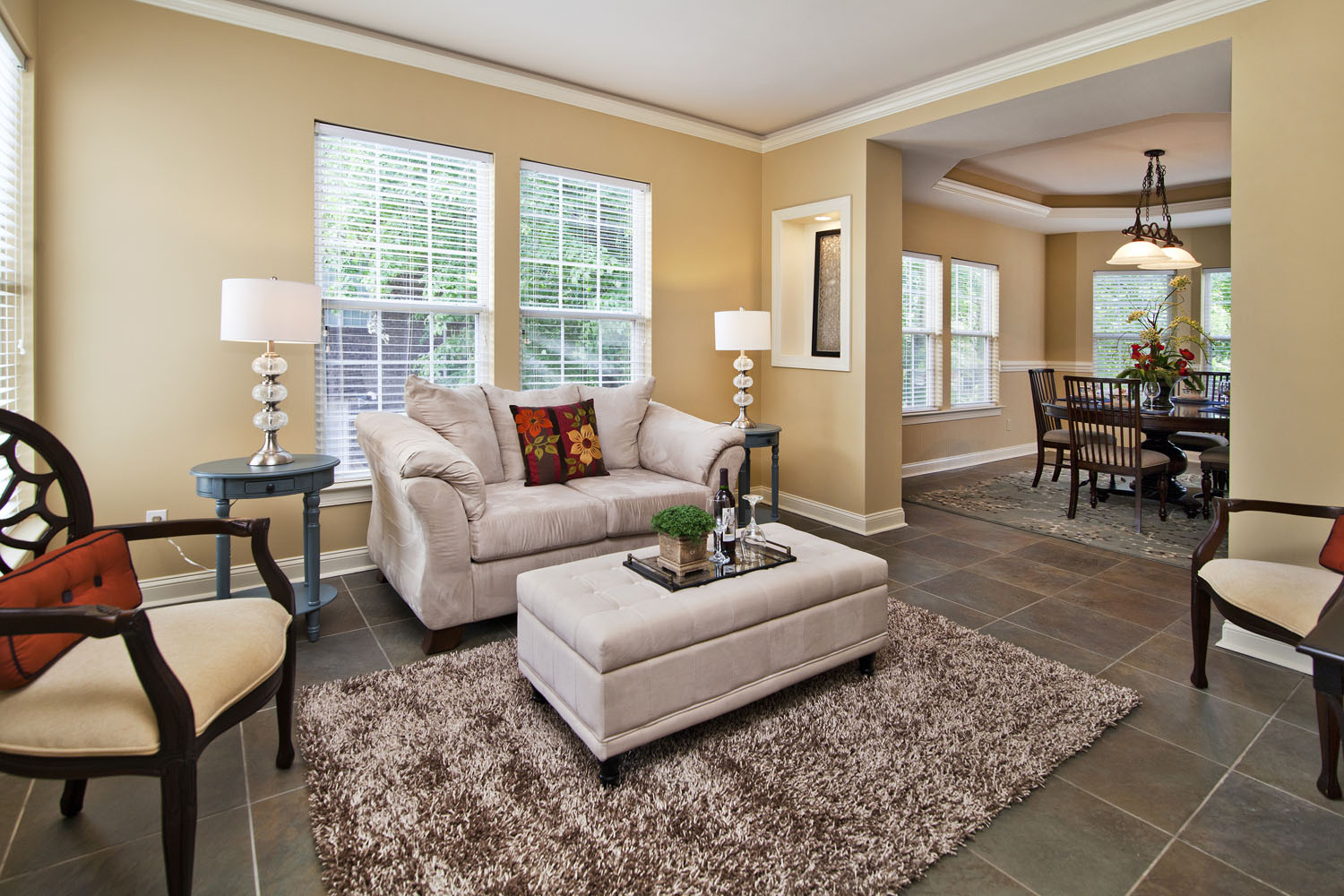 Centerpiece home staging lake norman home staging tips - Decorating with area rugs ...