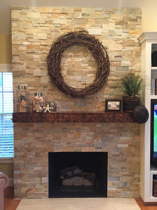 Interior stone trends centerpiece home staging Interior rock