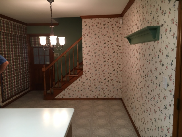 Breakfast Area Before Staging - Wallpaper was removed